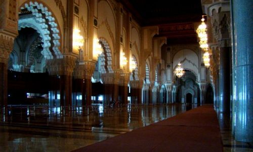 Zdjecie MAROKO / - / Casablanca / W meczecie Hassana II
