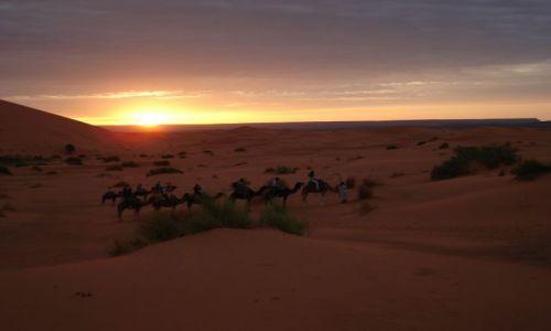 Zdjecie MAROKO / Sahara / Merzouga / Wyjscie z obozu