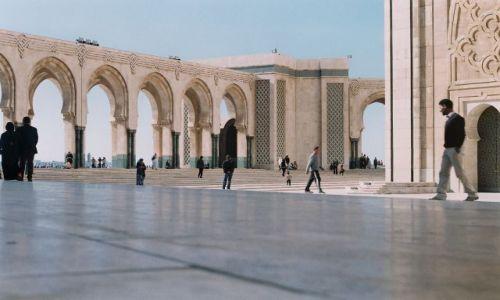 Zdjęcie MAROKO / Casablanca / Meczet Hassana II / Dziedziniec Meczetu Hassana