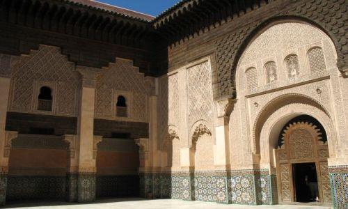 Zdjęcie MAROKO / - / Marrakesz / medresa Ben Youssef