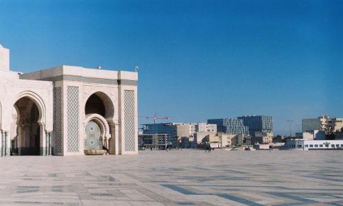 Zdjęcie MAROKO / Casablanca / Meczet Hassana II / Meczet Hassana i widok na Casa