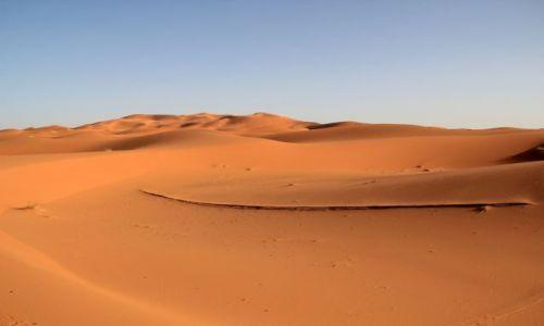Zdjecie MAROKO / południowo-wschodni kraniec Tafilant / okolice Erfoud / Sahara #7 godz. 18:45