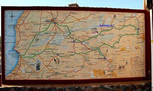 Zdjecie MAROKO / - / ZAGORA / Mapa trasy po południu Maroka.