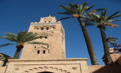 Zdjecie MAROKO / - / Marrakesz, meczet Kutubija / najwyższy minar