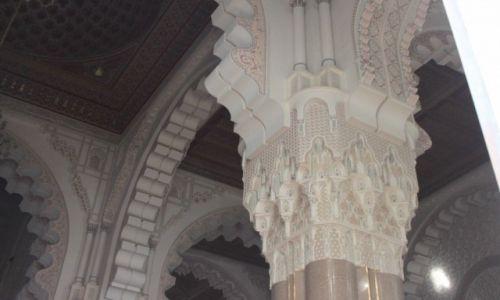 Zdjęcie MAROKO / Casablanka / Meczet Hassana II / Kolumna w meczecie