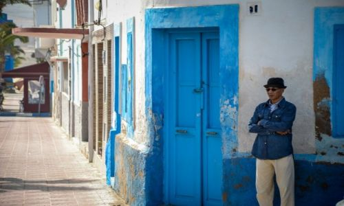 MAROKO / Maroko / Sidi Ifni / Niebiesko-białe miasteczko