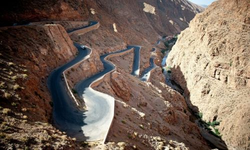 Zdjecie MAROKO / południowe Maroko / Wąwóz Dades / Droga