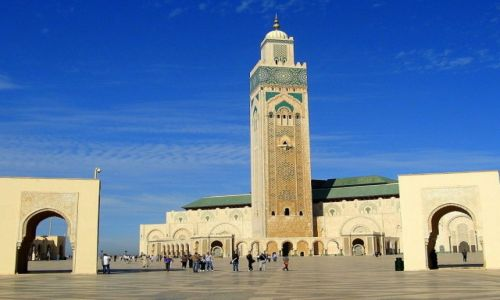 Zdjecie MAROKO / Casablanka / Meczet Hassana II / Mauretanska sztuka