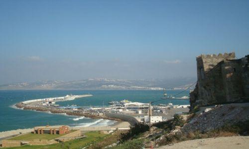 Zdjecie MAROKO / Tanger / Tanger / Widok na cieśninę Giblartarską