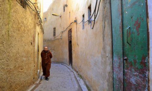 Zdjęcie MAROKO / Fez-Bulman / Fez / Samotnik