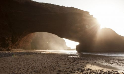 Zdjęcie MAROKO / Legzira / Legzira / African Road Trip - Łuki skalne w Legzirze