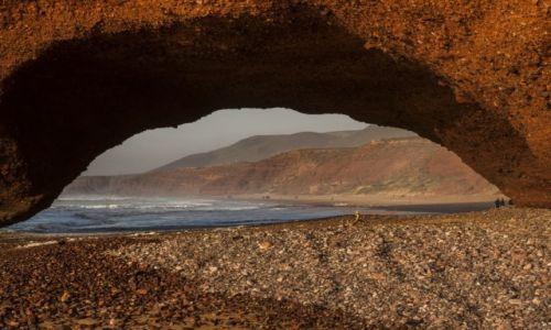 MAROKO / Legzira / Legzira / African Road Trip - Łuki skalne w Legzirze