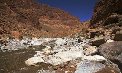 Zdjęcie MAROKO / Ouarzazate / Wąwóz Todra / Koryto rzeki