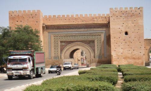 Zdjęcie MAROKO / , / Meknes / Brama Bab Lakhmis
