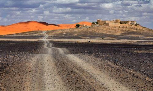 Zdjęcie MAROKO / Sahara / Merzuga / na skraju pustyni