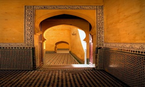 Zdjęcie MAROKO / Meknes / Meknes / Mauzoleum Moulay Ismail