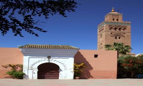 Zdjęcie MAROKO / Tansift Al Hauz / Marrakesz  / Meczet Kutubijja