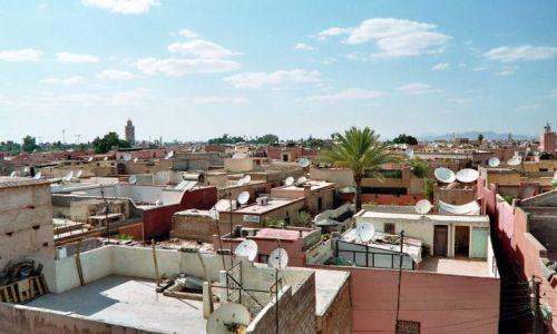 Zdjęcie MAROKO / brak / Marrakech / widok na miasto z el-Badi