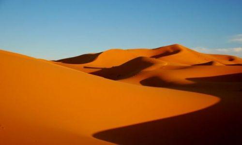 MAROKO / Sahara / Merzouga / Barwy pustyni