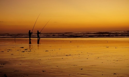Zdjecie MAROKO / Sidi Ifni / Lagzira Plage / Czy b�dzie rybk