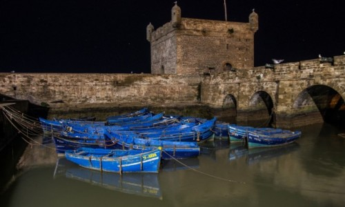 Zdjęcie MAROKO / essauira / essauira port / miasto niebieskich łodzi