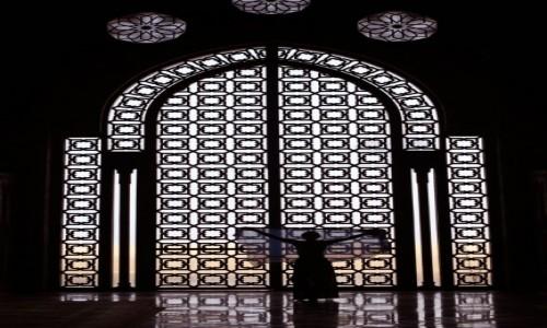 Zdjęcie MAROKO / Casablanca / Meczet Hasana II / Window