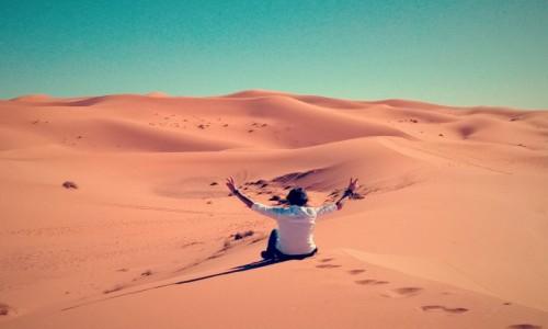 Zdjęcie MAROKO / Maroko / Maroko / Pustynie Maroka Erfound