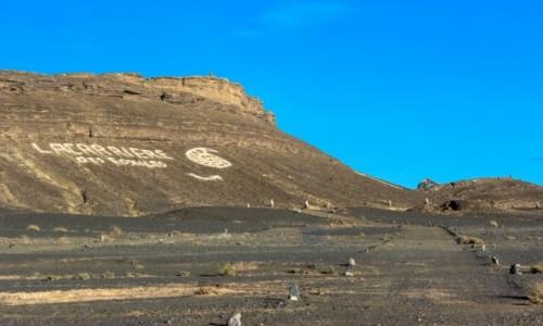 MAROKO / Maroko / Merzouga / Skamieniałości na pustyni