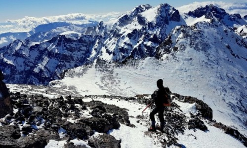 Zdjęcie MAROKO / Atlas Wyski / Atlas Wyski / Zimowe wejście na Jabal Tubkal w Afryce - droga na szczyt 3