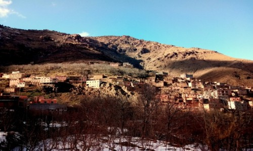 Zdjecie MAROKO / Atlas Wyski / Atlas Wyski / Zimowe wejście na Jabal Tubkal w Afryce - baza Imlil 2
