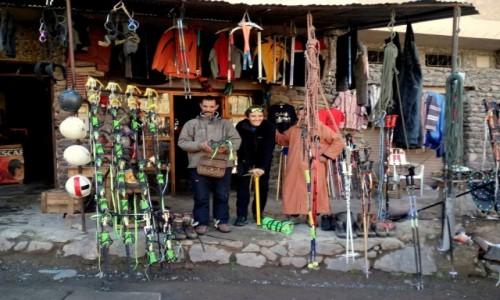 Zdjęcie MAROKO / Atlas Wyski / Atlas Wyski / Zimowe wejście na Jabal Tubkal w Afryce - baza Imlil wypożyczalnie