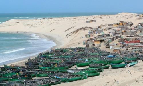 MAROKO / Sahara Zachodnia / Sahara Zachodnia / Wioska rybacka