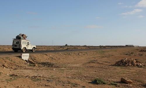 Zdjecie MAROKO / Sahara Zachodnia / Sahara Zachodnia / Chłopaki i ich koza