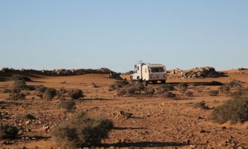 Zdjęcie MAROKO / Sahara Zachodnia / Sahara / Wjazd do starego fortu