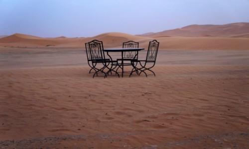 Zdjecie MAROKO / Erfoud / Erfoud / Tea in the Sahara
