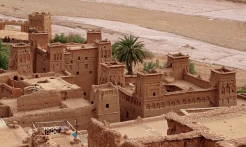 MAROKO / Południe- prowincja  Ouarzazate / Ait Ben Haddou / Zamki z piasku