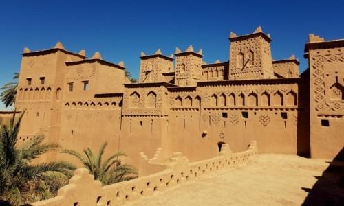 Zdjęcie MAROKO / Południe- prowincja  Ouarzazate / Kasba Amridil / Berberyjskie ornamenty