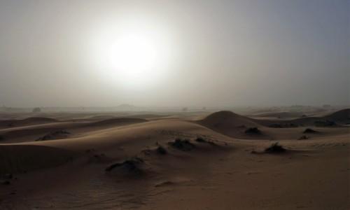 Zdjecie MAROKO / Sahara Erg Chebbi / Merzouga / Sypnęło piachem