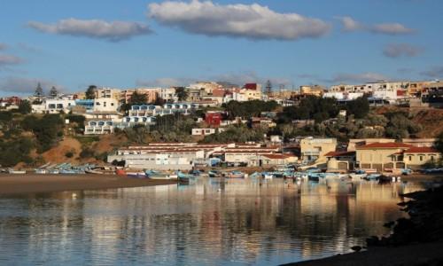 Zdjecie MAROKO / Kénitra Province / Moulay Bousselham / Kolorowa laguna
