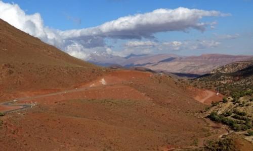 Zdjecie MAROKO / Region Ouarzazate / W drodze doTizi n'Tichka / Marokańskie przestrzenie