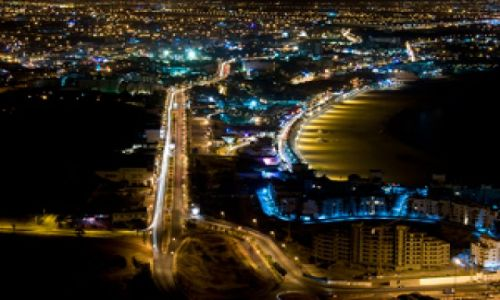 Zdjęcie MAROKO / Susaria / Agadir / Agadir nocą