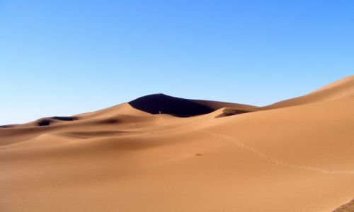 Zdjęcie MAROKO / Mhamid / pustynia / długa droga