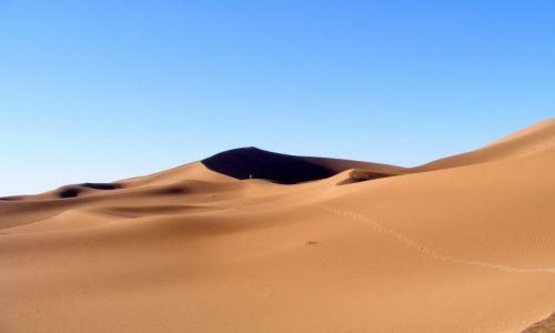 Zdjecie MAROKO / Mhamid / pustynia / długa droga