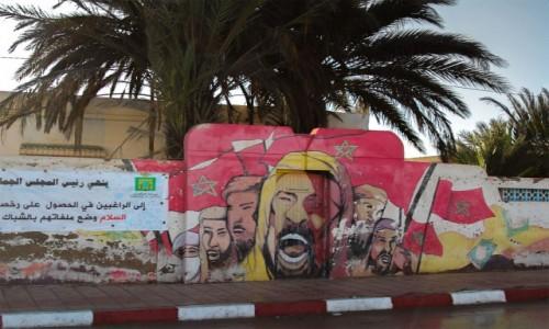 Zdjecie MAROKO / Kulmim-Asmara / Tantan / Zielony Marsz na muralu