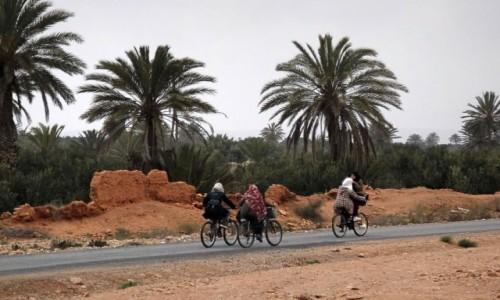 Zdjecie MAROKO / Maroko / gdzieś po drodze / Cyklistki