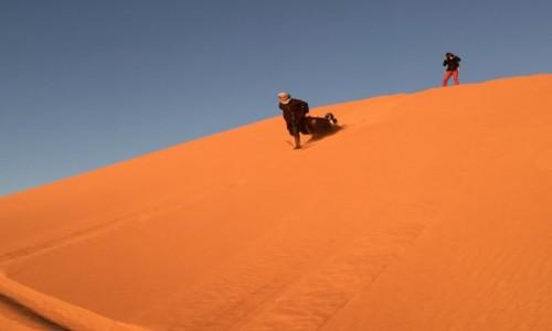 MAROKO / Południe Maroka / Erfoud-Merzouga / Marokańska pustynia