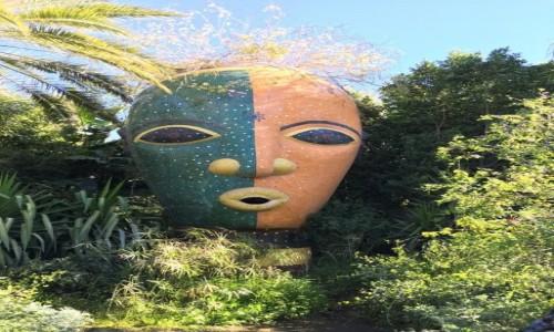 Zdjecie MAROKO / Okolice Marrakeszu / Okolice Marrakeszu- Anima / Anima - ogród - rzeźba - maska