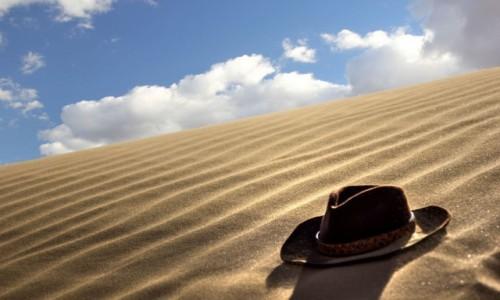 MAROKO / Sahara Zachodnia / w piaskach pustyni / Zwiało...