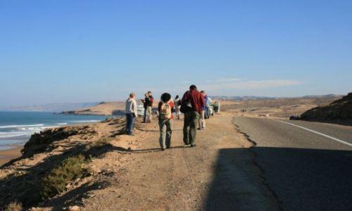 Zdjecie MAROKO / wybrzeże Maroka / przed Es-Sawirą / droga wzdłuż wybrzeża Atlantyku