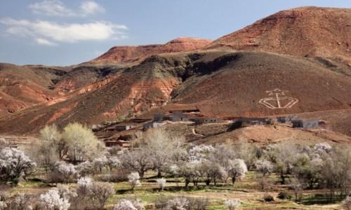 Zdjęcie MAROKO / Dara-Tafilalt / gdzieś po drodze / Widok na wioskę